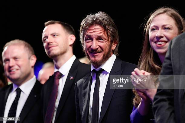 Sean Penn and Chelsea Clinton attend the Clinton Global Citizen Awards during the second day of the 2015 Clinton Global Initiative's Annual Meeting...