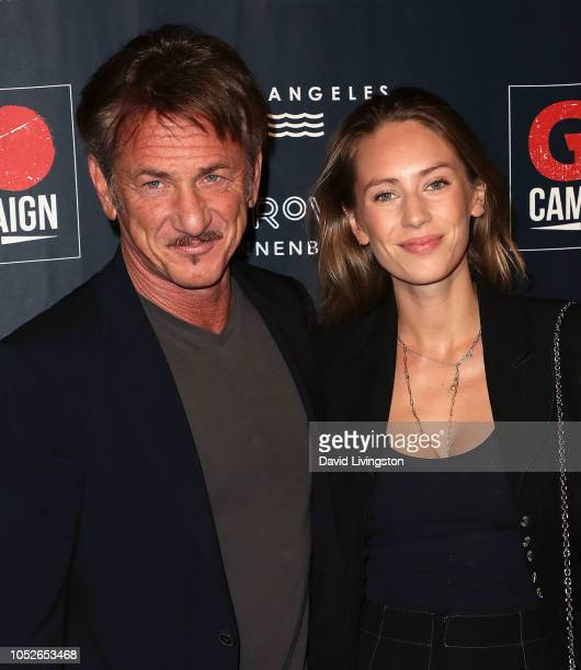 Sean Penn and Dylan Penn attend the GO Campaign Gala 2018 at City Market Social House on October 20 2018 in Los Angeles California