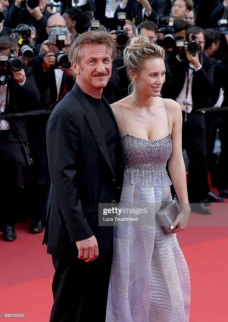 Sean Penn and Dylan Penn attend the screening of 'The Last Face' at the annual 69th Cannes Film Festival at Palais des Festivals on May 20, 2016 in Cannes, France.