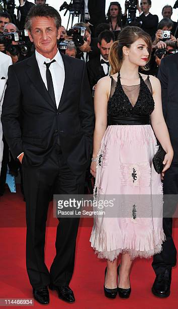 Sean Penn and Eve Hewson attends the 'This Must Be The Place' premiere during the 64th Annual Cannes Film Festival at Palais des Festivals on May 20...