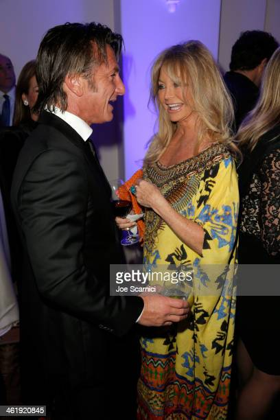 Sean Penn and Goldie Hawn attend the 3rd annual Sean Penn Friends HELP HAITI HOME Gala benefiting J/P HRO presented by Giorgio Armani at Montage...