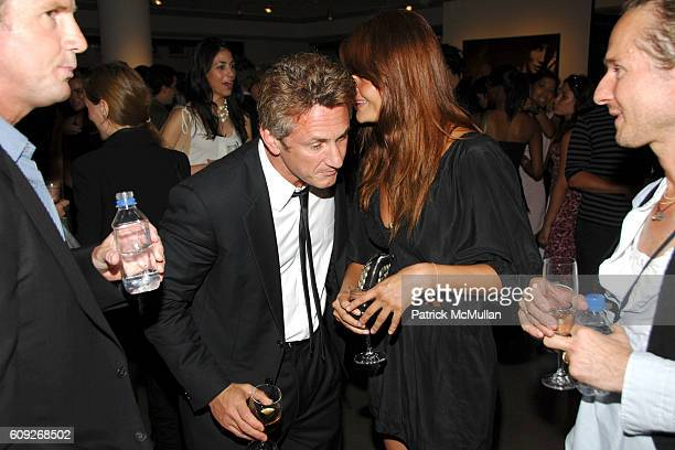 Sean Penn and Helena Christensen attend MARIE CLAIRE Charity Auction Party for photographer HELENA CHRISTENSEN at Milk Gallery on July 18 2007 in New...