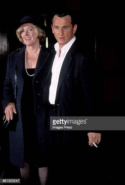 Sean Penn and his mom Eileen Ryan circa 1999 in New York City