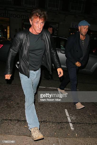 Sean Penn and Joel Edgerton at 34 restaurant on September 4 2013 in London England