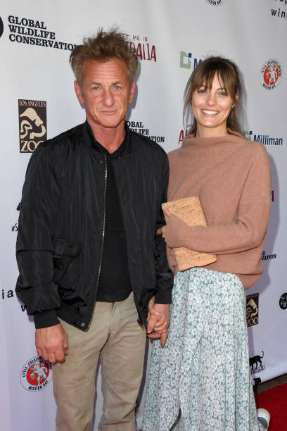 Sean Penn and Leila George attend Meet Me In Australia To Benefit Australia Wildfire Relief Efforts hosted by The Greater Los Angeles Zoo Association...
