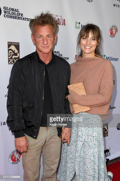 """Sean Penn and Leila George attend """"Meet Me In Australia"""" To Benefit Australia Wildfire Relief Efforts, hosted by The Greater Los Angeles Zoo..."""