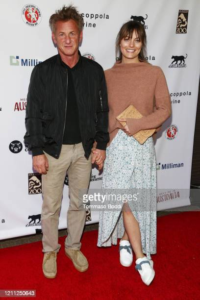 """Sean Penn and Leila George attend The Greater Los Angeles Zoo Association Hosts """"Meet Me In Australia"""" To Benefit Australia Wildfire Relief Efforts..."""