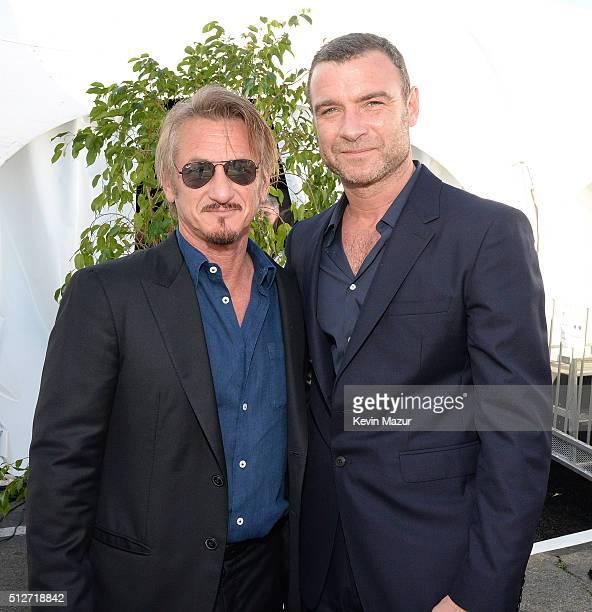 Sean Penn and Liev Schreiber attend 2016 Film Independent Spirit Awards on February 27 2016 in Santa Monica California