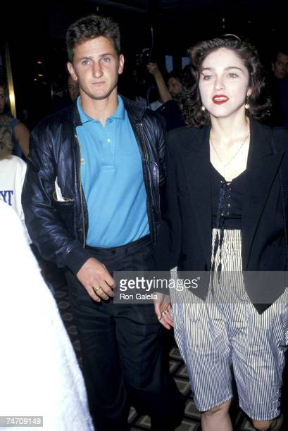 Sean Penn and Madonna at the Trump Plaza in Atlantic City New Jersey
