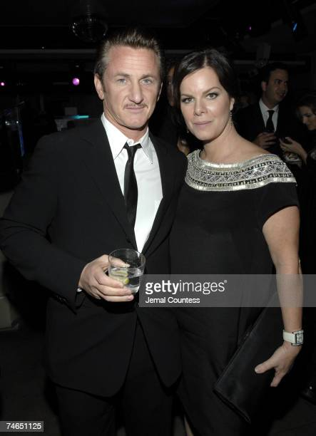 Sean Penn and Marcia Gay Harden at the Duvet in New York City New York
