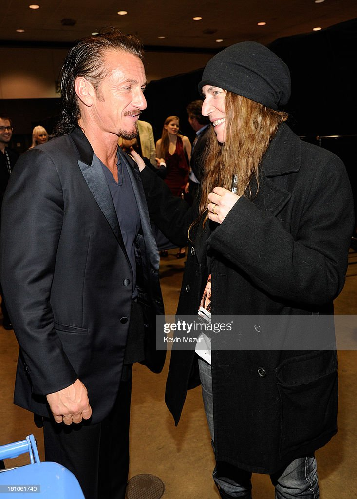 Sean Penn and Patti Smith attend MusiCares Person Of The Year Honoring Bruce Springsteen at Los Angeles Convention Center on February 8, 2013 in Los Angeles, California.