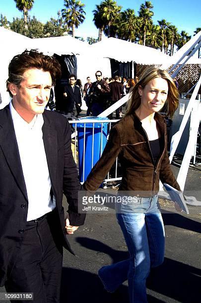 Sean Penn and Robin WrightPenn during 2004 IFP Independent Spirit Awards Press Room at Santa Monica Pier in Santa Monica California United States