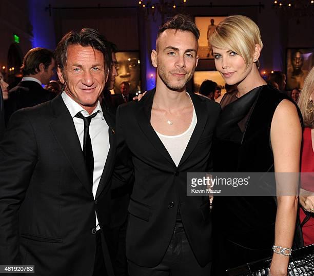 Sean Penn Asaf Avidan and Charlize Theron attend The 3rd annual Sean Penn Friends HELP HAITI HOME Gala benefiting J/P HRO presented by Giorgio Armani...