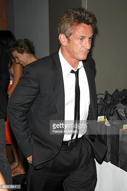 Sean Penn attends MARIE CLAIRE Charity Auction Party for photographer HELENA CHRISTENSEN at Milk Gallery on July 18 2007 in New York City