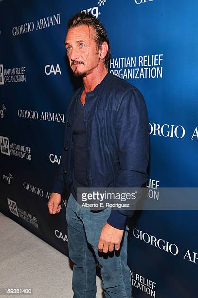 Sean Penn attends the 2nd Annual Sean Penn and Friends Help Haiti Home Gala benefiting J/P HRO presented by Giorgio Armani at Montage Hotel on...