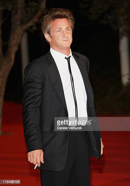 Sean Penn attends the 'Into The Wild' premiere during Day 7 of the 2nd Rome Film Festival on October 24 2007 in Rome Italy