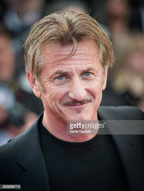 Sean Penn attends the screening of The Last Face at the annual 69th Cannes Film Festival at Palais des Festivals on May 20 2016 in Cannes France