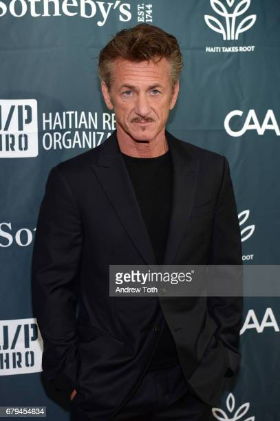 Sean Penn attends The Sean Penn Friends Haiti Takes Root benefit dinner and auction supporting J/P Haitian Relief Organization at Sotheby's on May 5...