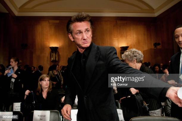 Sean Penn attends the Senate Foreign Relations Committee hearing on After the Earthquake Empowering Haiti to Rebuild Better at Senate Dirksen...