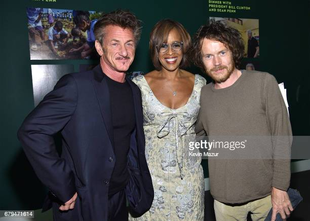 Sean Penn Gayle King and Damien Rice attend Sean Penn Friends HAITI TAKES ROOT A Benefit Dinner Auction to Reforest Rebuild Haiti to Support J/P...