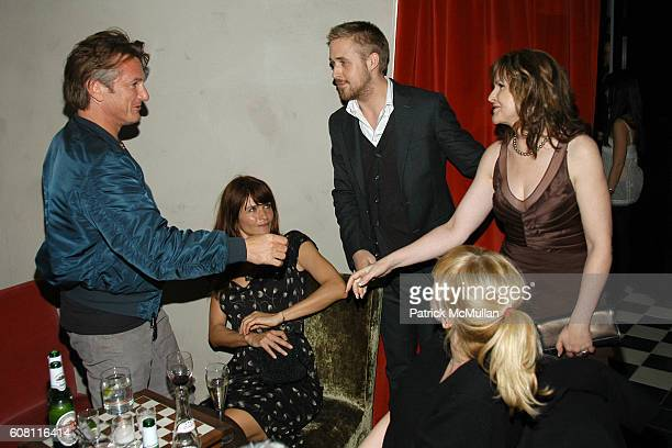 Sean Penn Helena Christensen Ryan Gosling Amy Sacco and Donna Gosling attend THE CINEMA SOCIETY HUGO BOSS after party for FRACTURE at Gramercy Park...