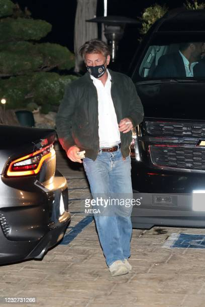 Sean Penn is seen leaving Nobu on May 6, 2021 in Malibu, California.