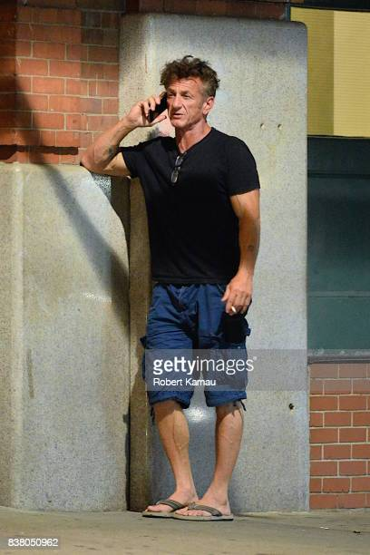 Sean Penn is seen on August 23 2017 in New York City