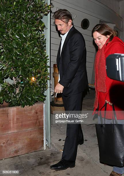 Sean Penn is seen on January 14 2016 in Los Angeles California