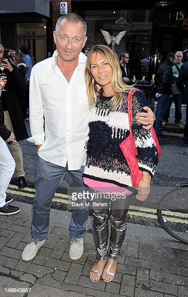 Sean Pertwee and Jacqui HamiltonSmith attend a private view of 'Artifact A Solo Exhibition By Nancy Fouts' at Pertwee Anderson Gold Gallery on June...