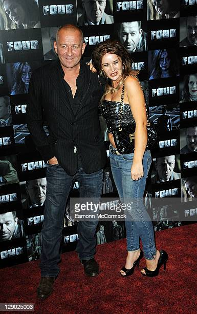 Sean Pertwee and Kierston Wareing attend the UK premiere of 'Four' at The Empire Cinema on October 10 2011 in London England
