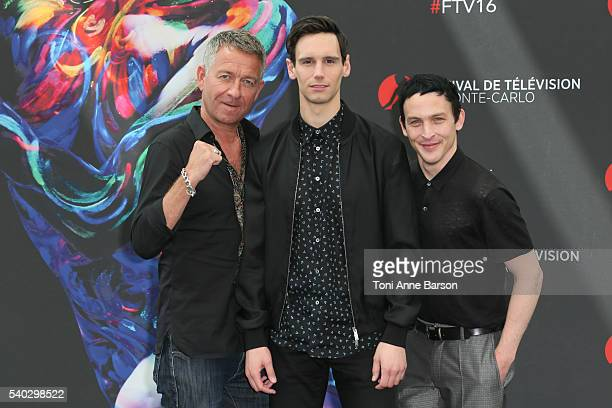 Sean Pertwee Cory Michael Smith and Lord Robin Taylor attend 'Gotham' Photocall as part of the 56th Monte Carlo Tv Festival at the Grimaldi Forum on...