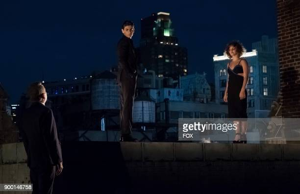 Sean Pertwee David Mazouz and Camren Bicondova in the 'Pax Penguina' season premiere episode of GOTHAM airing Thursday Sept 21 on FOX