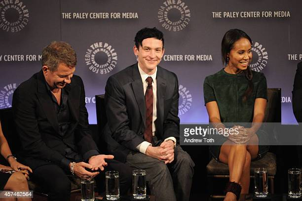 Sean Pertwee Robin Lord Taylor and Jada Pinkett Smith attend the 2nd annual Paleyfest New York Presents 'Gotham' at Paley Center For Media on October...