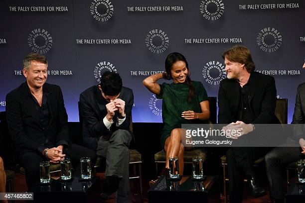 Sean Pertwee Robin Lord Taylor Jada Pinkett Smith Donal Logue attend the GOTHAM Panel At PaleyFest NY on October 18 2014 in New York City