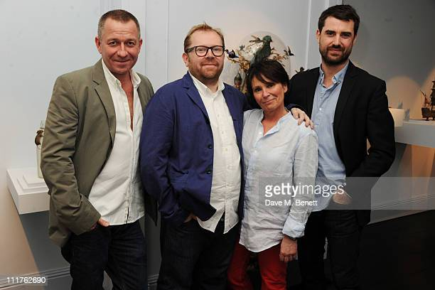 Sean Pertwee Simon Anderson Nancy Fouts and James Golding attend the private view of UnThnk by Nancy Fouts at Pertwee Anderson And Gold on April 6...