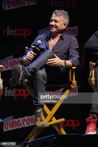 Sean Pertwee speaks onstage at the Gotham Panel during the 2017 New York Comic Con on October 8 2017 in New York City