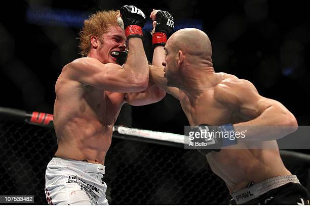 Sean Pierson fights against Matt Riddle during their Welterweight bout during UFC 124 at the Centre Bell on December 11 2010 in Montreal Quebec Canada