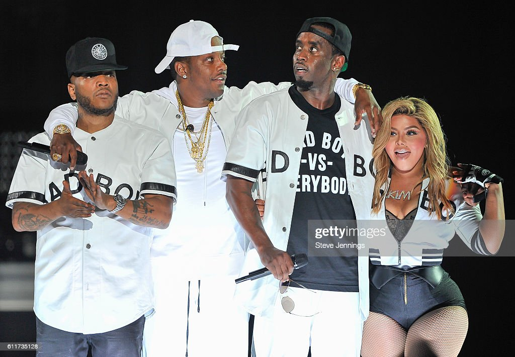 Sean 'Puff Daddy' Combs and Lil' Kim perform at the Bad Boy Family Reunion Tour at ORACLE Arena on September 30, 2016 in Oakland, California.