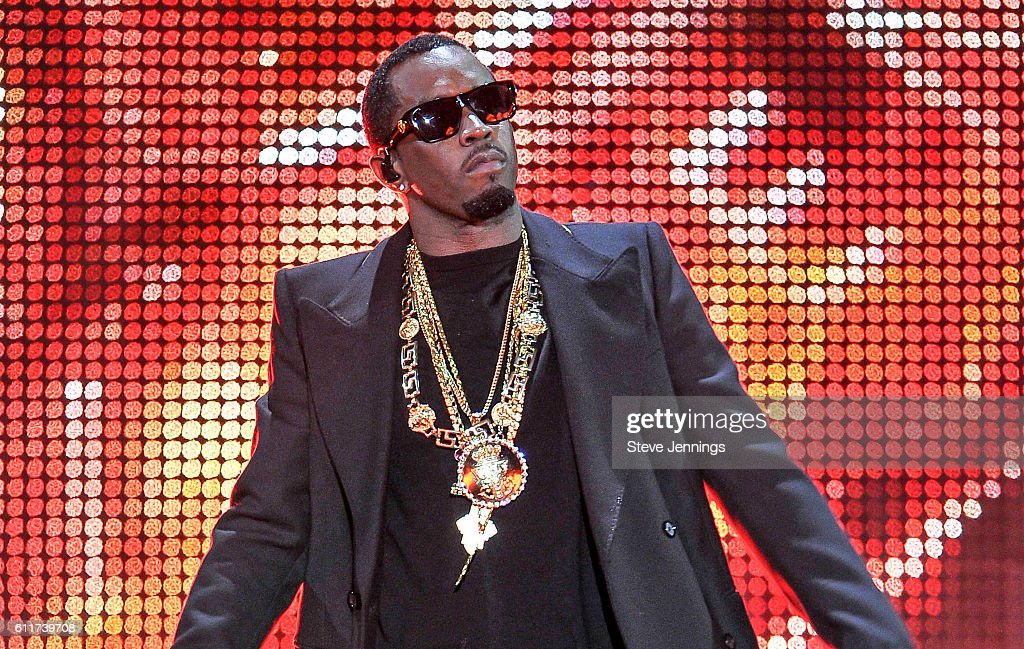 Sean 'Puff Daddy' Combs performs at the Bad Boy Family Reunion Tour at ORACLE Arena on September 30, 2016 in Oakland, California.