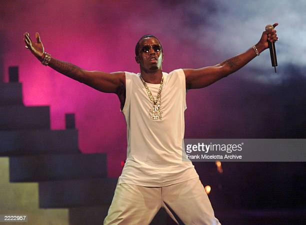 Sean 'Puffy' Combs performing on 'The Source HipHop Music Awards' at the Pantages Theatre in Hollwood California The show will air on the UPN Network...
