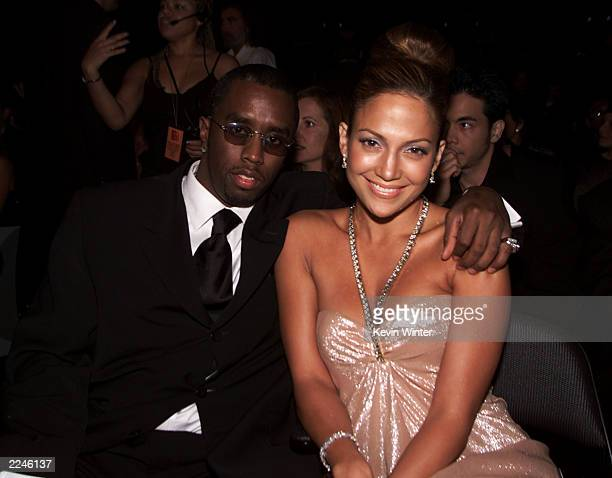Sean 'Puffy' Combs with Jennifer Lopez in the audience at the 1st Annual Latin Grammy Awards broadcast on Wednesday September 13 2000 at the Staples...
