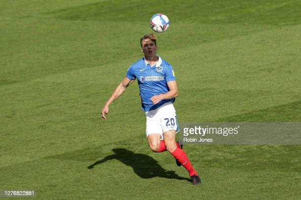Sean Raggett of Portsmouth FC during the Sky Bet League One match between Portsmouth and Wigan Athletic at Fratton Park on September 26, 2020 in...
