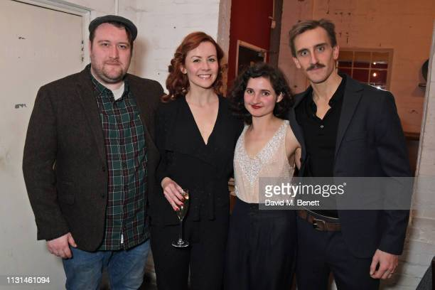 Sean Rigby EvaJane Willis Ruby Bentall and Henry Proffit attend the press night performance of The Rubenstein Kiss at The Southwark Playhouse on...