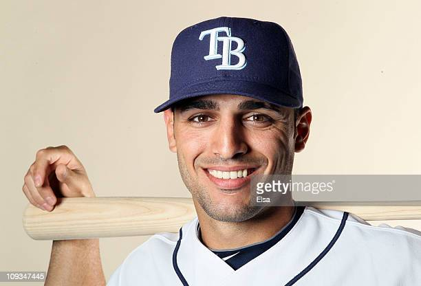 Sean Rodriguez of the Tampa Bay Rays poses for a portrait during the Tampa Bay Rays Photo Day on February 22 2011 at the Charlotte Sports Complex in...