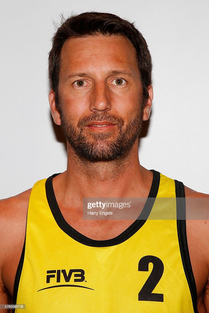 Sean Rosenthal of the USA poses for a portrait during the FIVB Moscow Grand Slam on May 26, 2015 in Moscow,Russia.