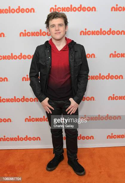 Sean Ryan Fox attends Nickelodeon' Holiday Party With Casts Of Cousins For Life And Henry Danger at Nickelodeon Studios on November 10 2018 in...