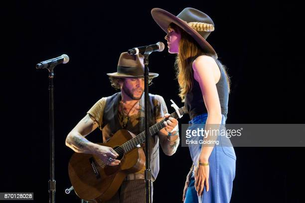 Sean Scolnick of Langhorne Slim and Casey Jane perform during 2017 Boudin Bourbon and Beer at Champions Square on November 3 2017 in New Orleans...
