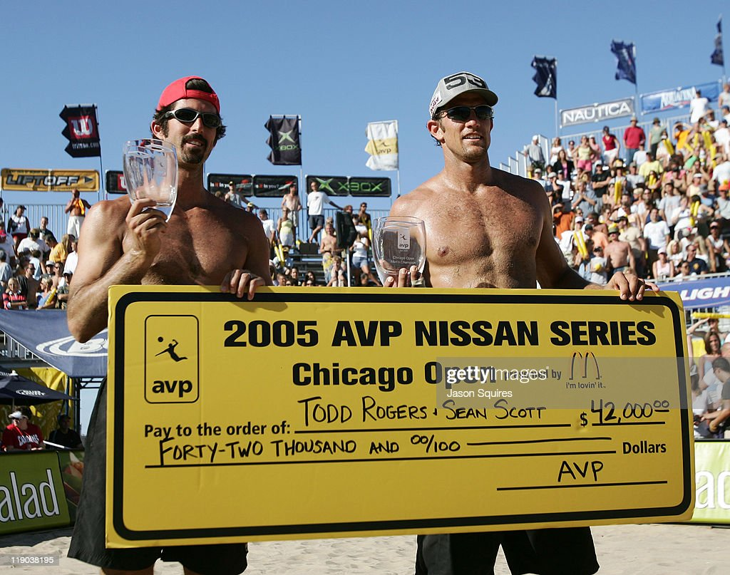 Sean Scott and Todd Rogers celebrate their victory against Karch Krialy and Mike Lambert in the final round of the 2005 Chicago Open