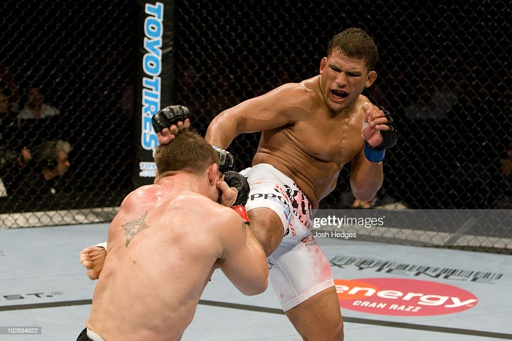 Sean Sherk (black/grey shorts) def. Tyson Griffin (white shorts) - Unanimous Decision during the UFC 90 at Allstate Arena on October 25,2008 in Chicago,Illinois.