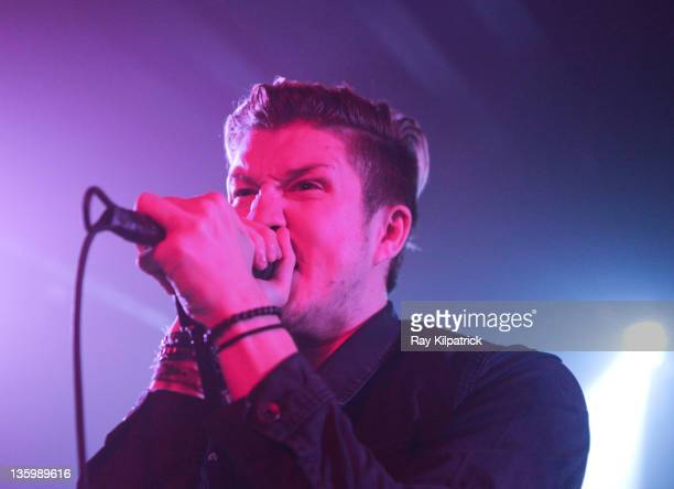 Sean Smith of The Blackout performs on stage at O2 Academy on December 15, 2011 in Liverpool, United Kingdom.
